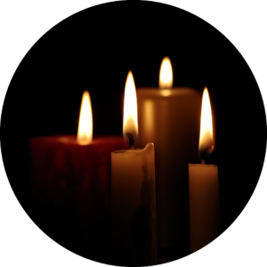 picture of candles lit